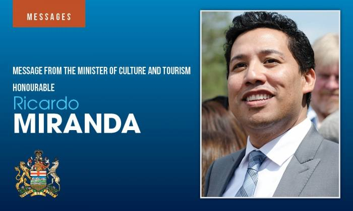 Message From The Minister of Culture & Tourism
